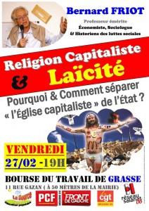 27-02 - FRIOT Grasse - Religion capitaliste et Laicit-